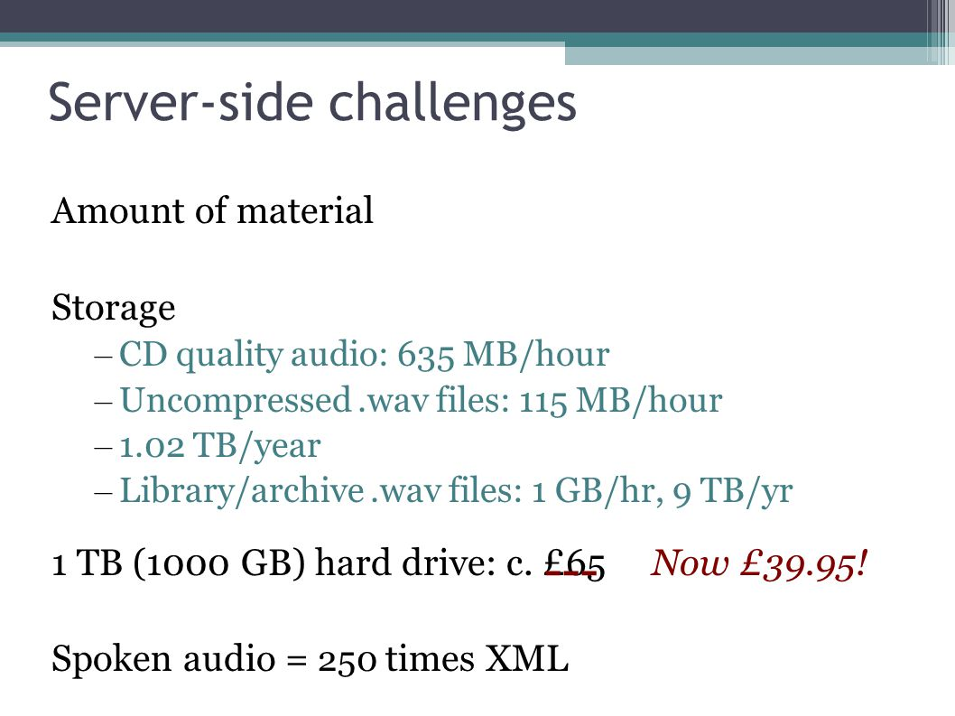 Challenges of very large audio collections of spoken language How does a researcher find audio segments of interest.