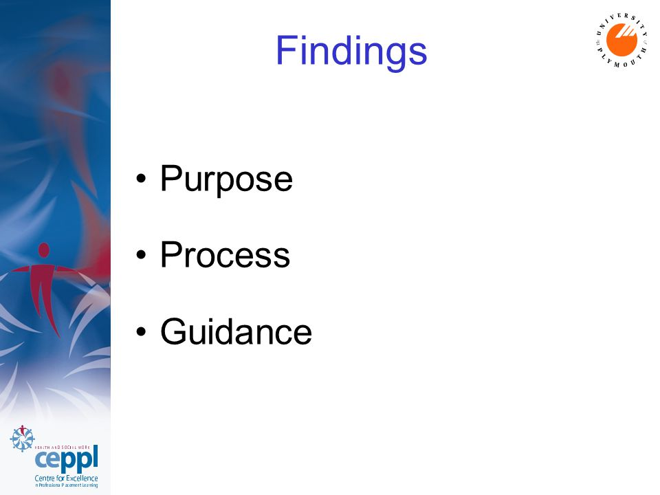Findings Purpose Process Guidance