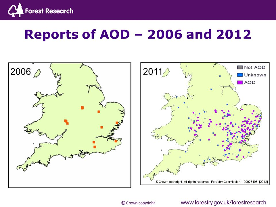 Reports of AOD – 2006 and 2012 2006 2011