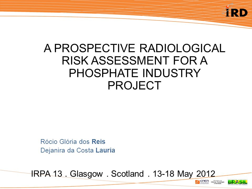 IRPA 13. Glasgow. Scotland.