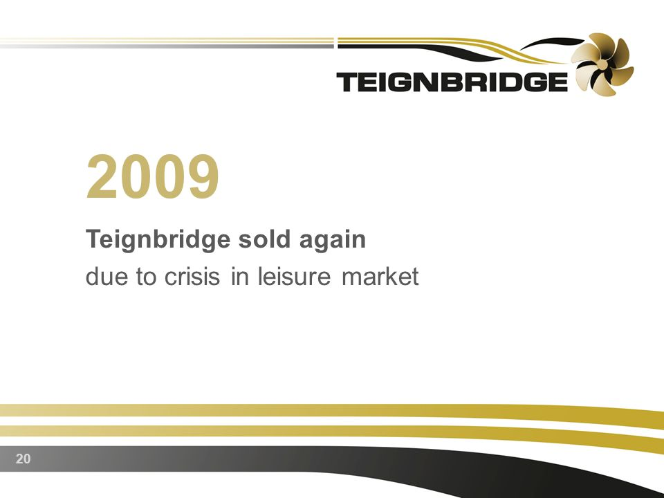 20 2009 Teignbridge sold again due to crisis in leisure market