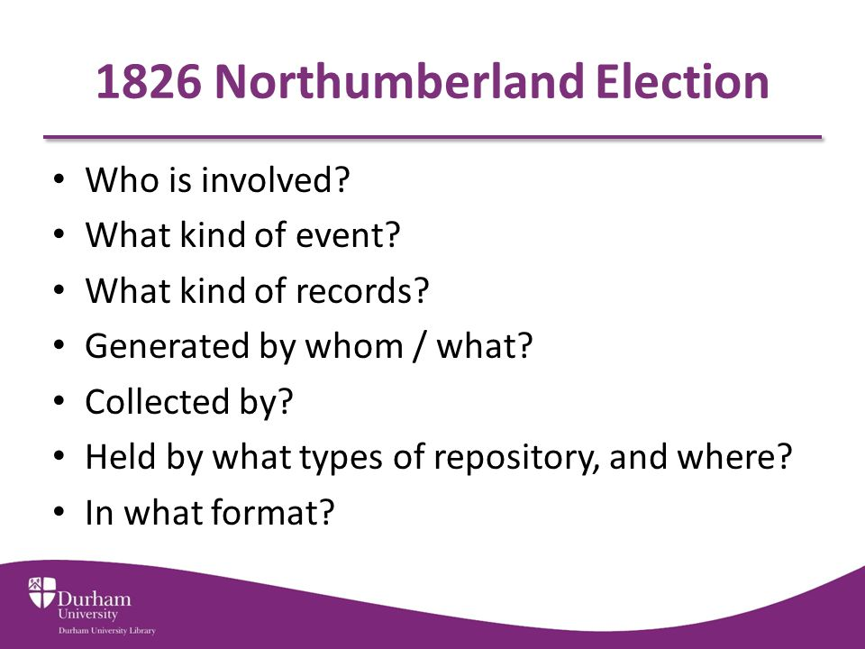 1826 Northumberland Election Who is involved. What kind of event.