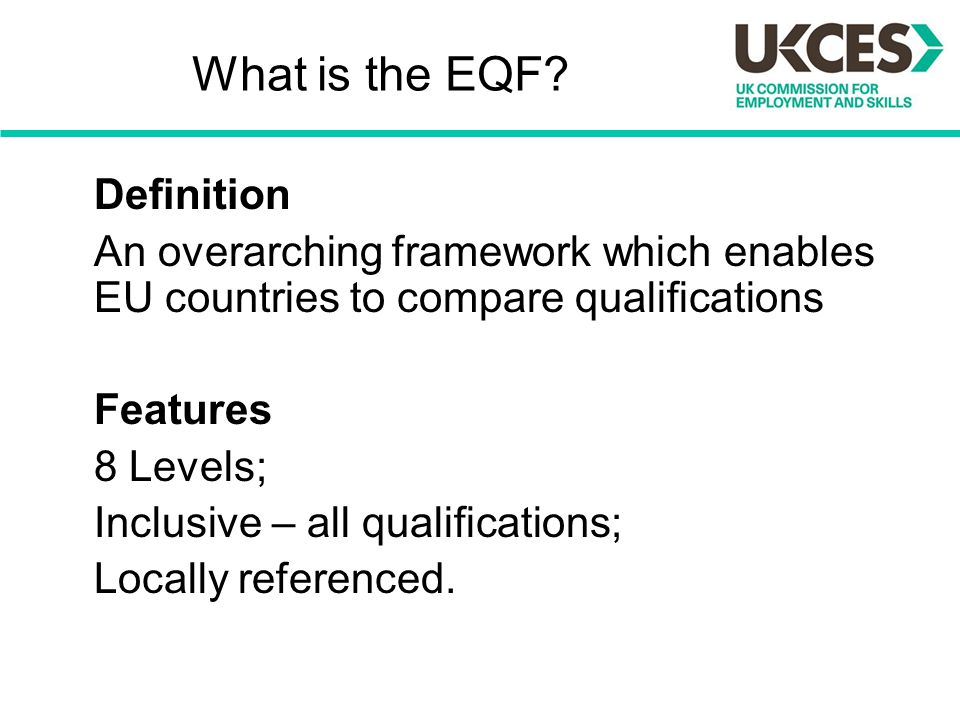 What is the EQF.