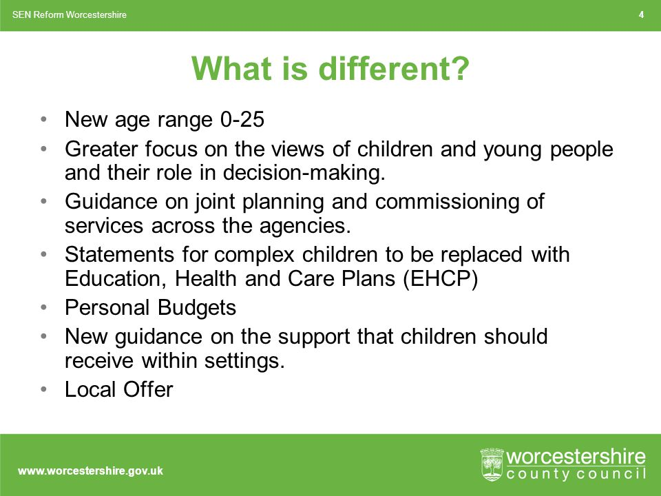 www.worcestershire.gov.uk What is different.