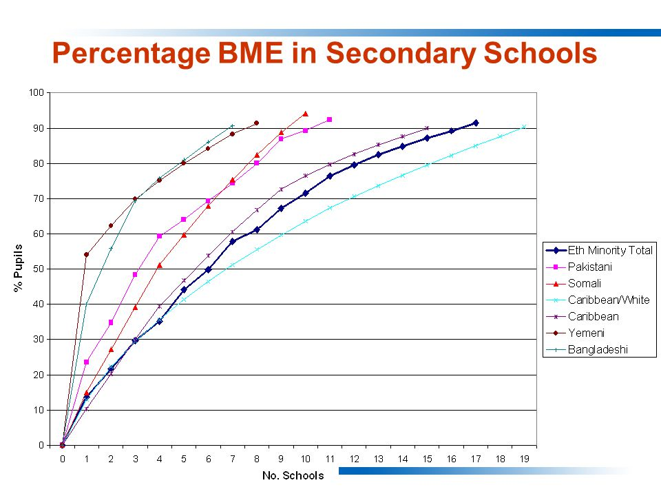 Percentage BME in Secondary Schools