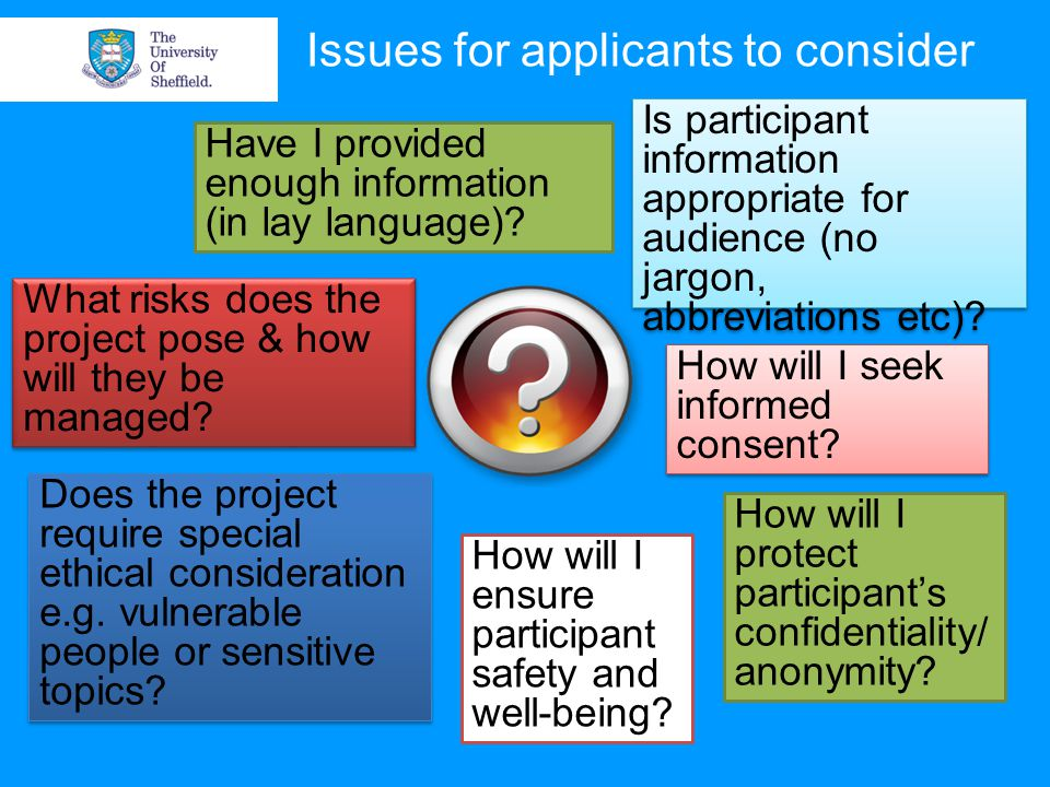 Issues for applicants to consider Have I provided enough information (in lay language).