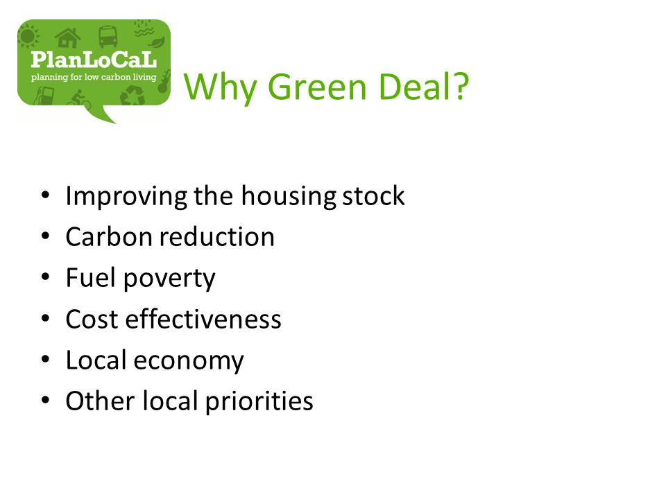 Why Green Deal.