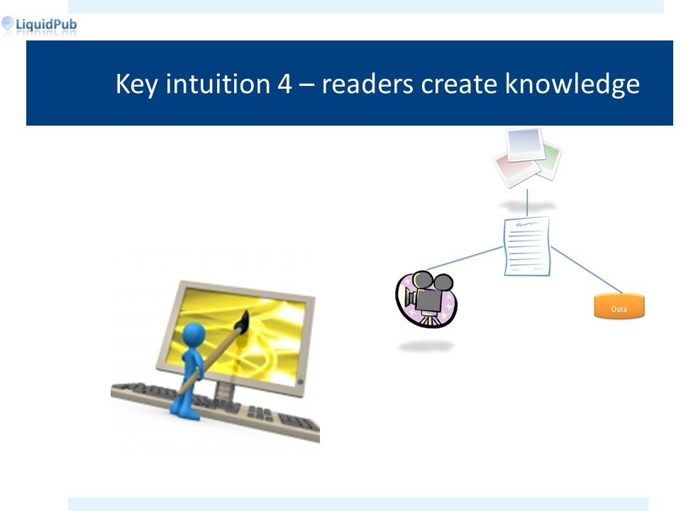 Key intuition 4 – readers create knowledge