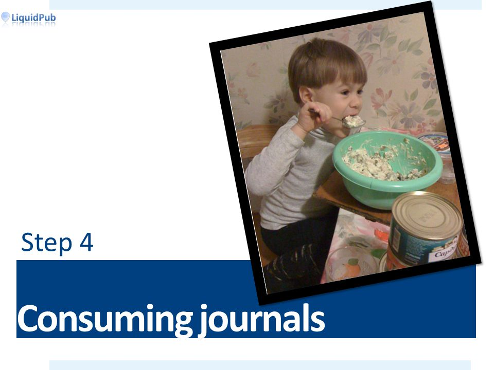 Consuming journals Step 4