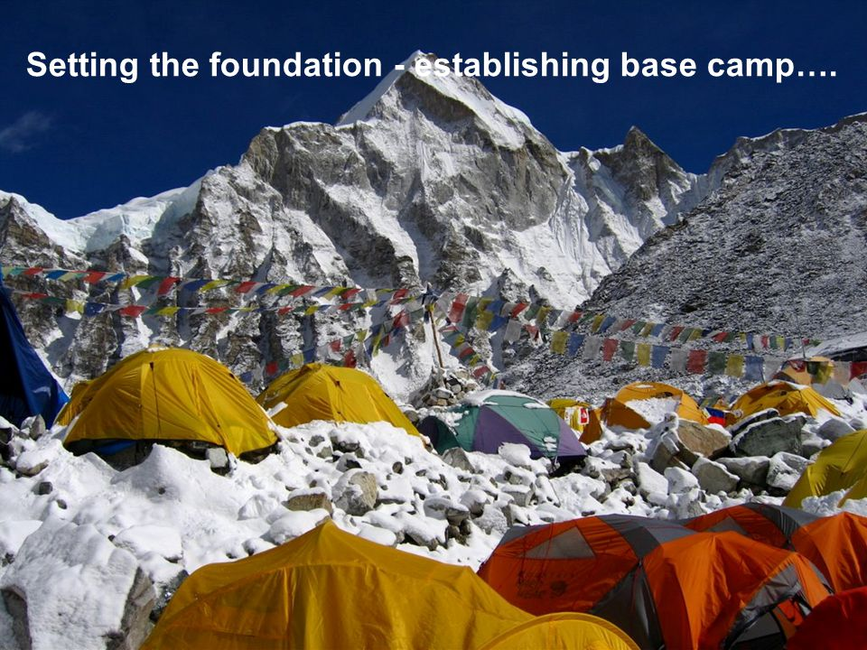 4 Test Our journey so far…. Setting the foundation - establishing base camp….