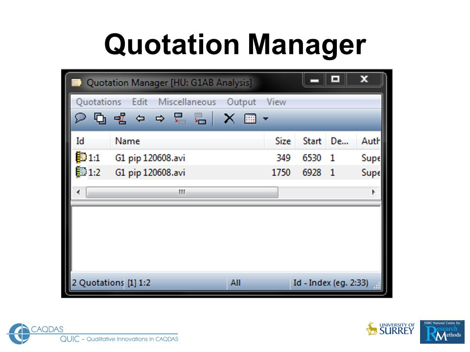 Quotation Manager