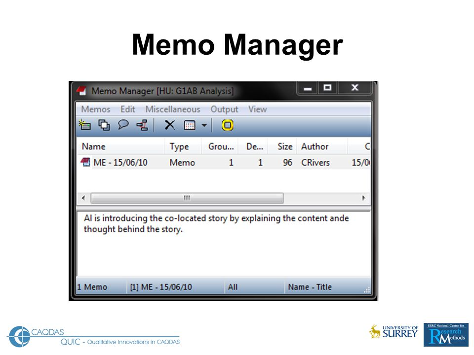 Memo Manager