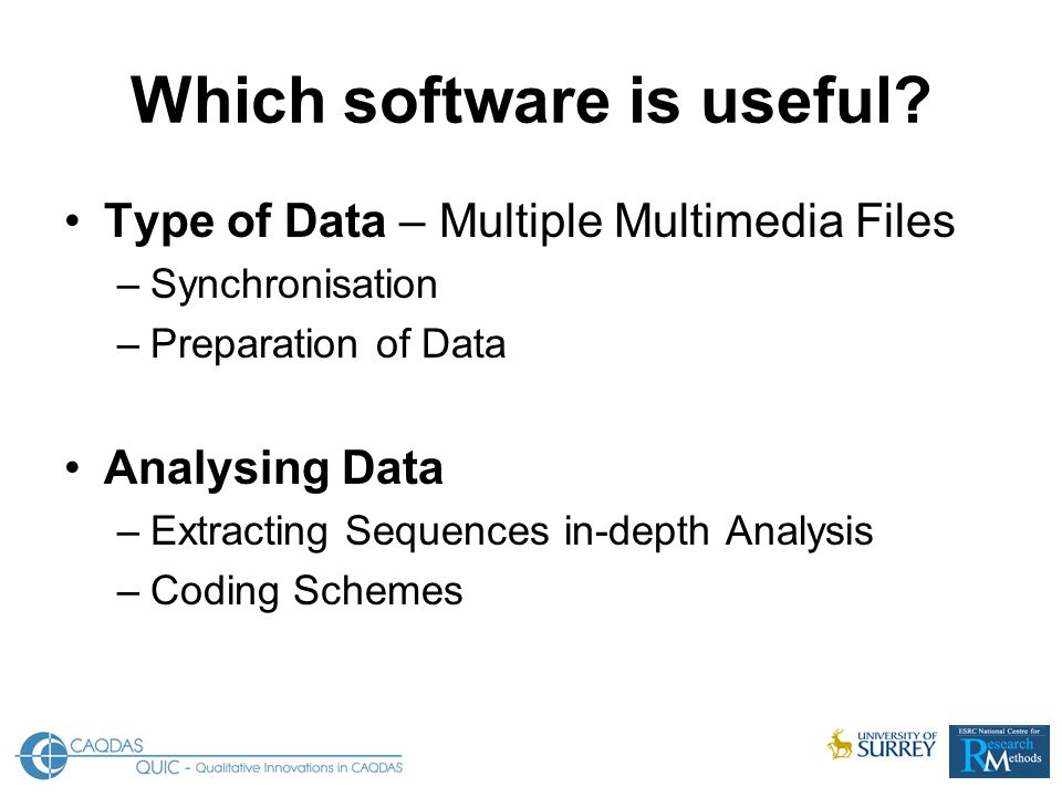 Which software is useful.