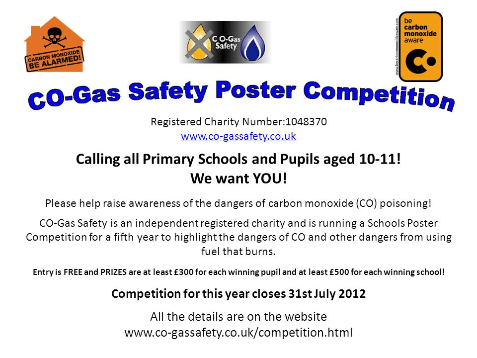 Registered Charity Number:1048370 www.co­-gassafety.co.uk Calling all Primary Schools and Pupils aged 10-11.
