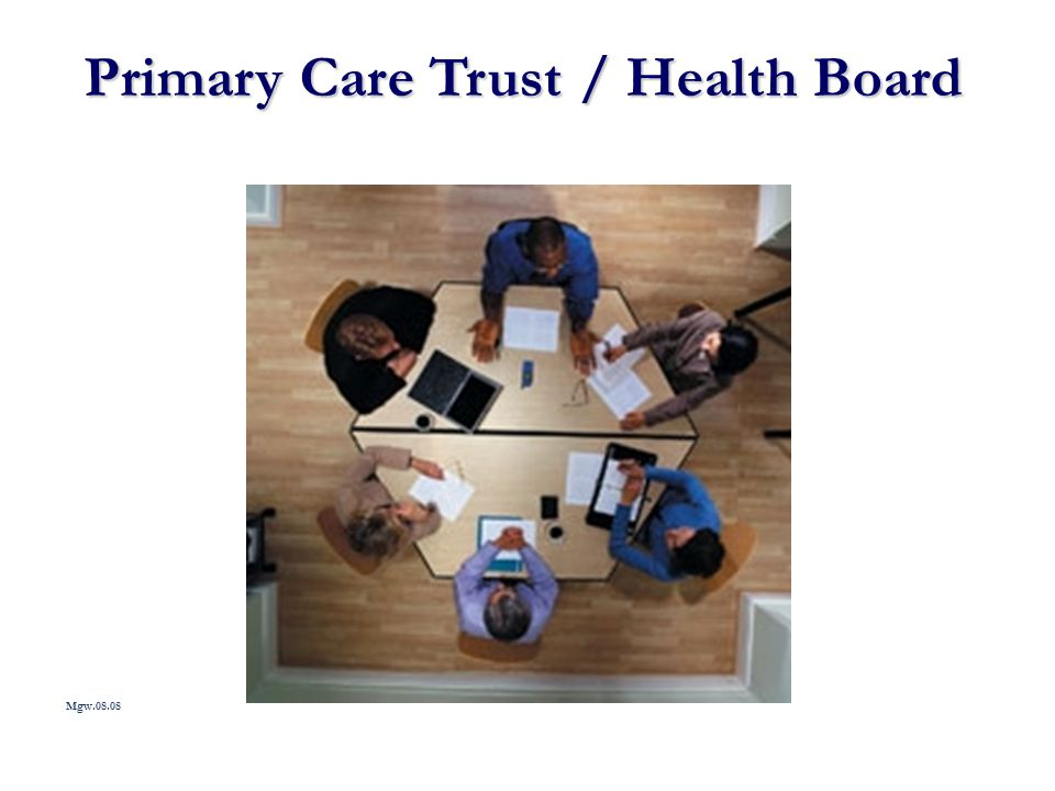 Primary Care Trust / Health Board Mgw.08.08