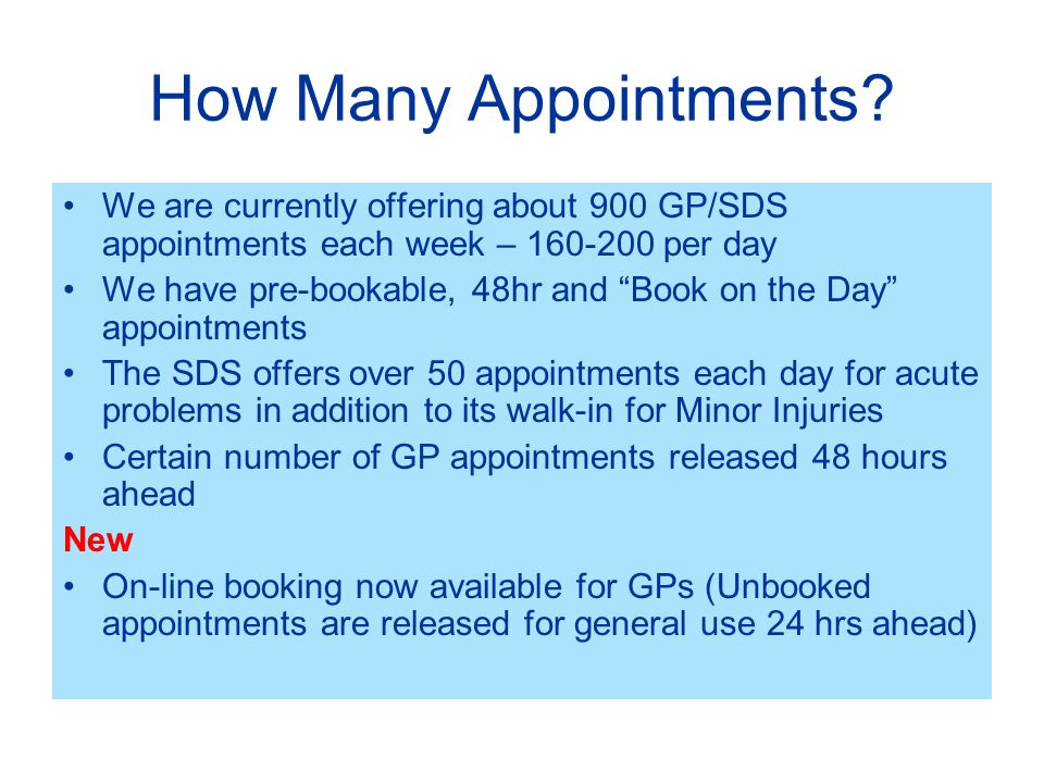 How Many Appointments.