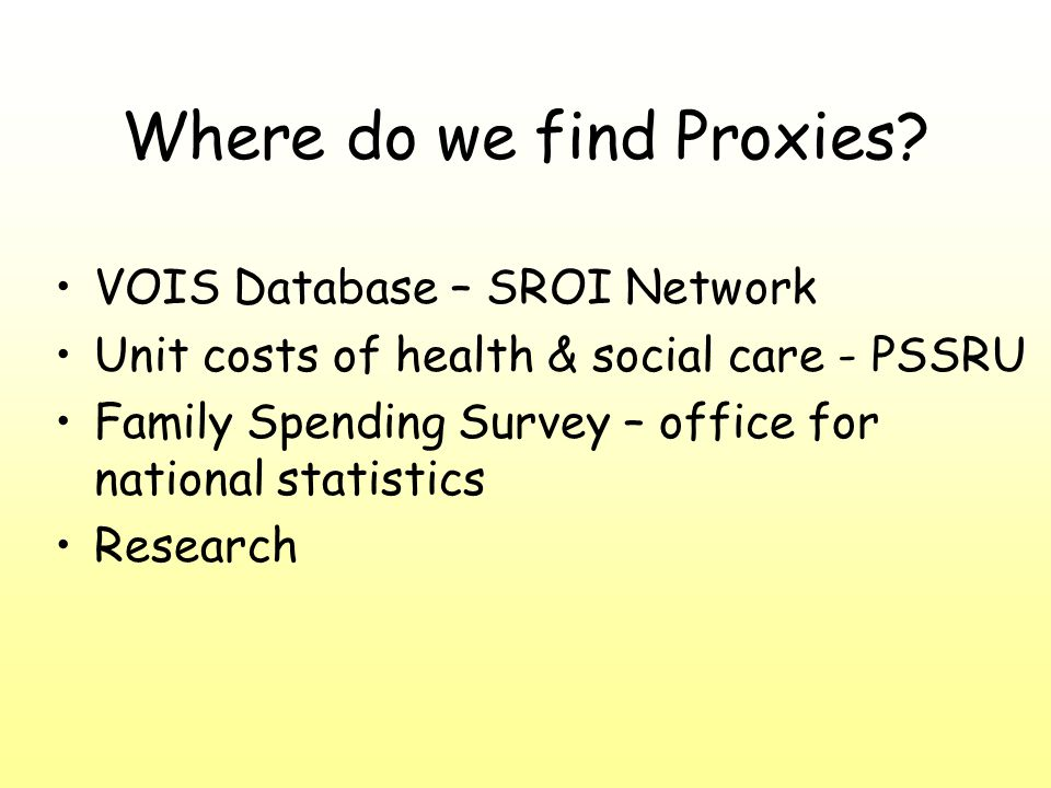 Where do we find Proxies.