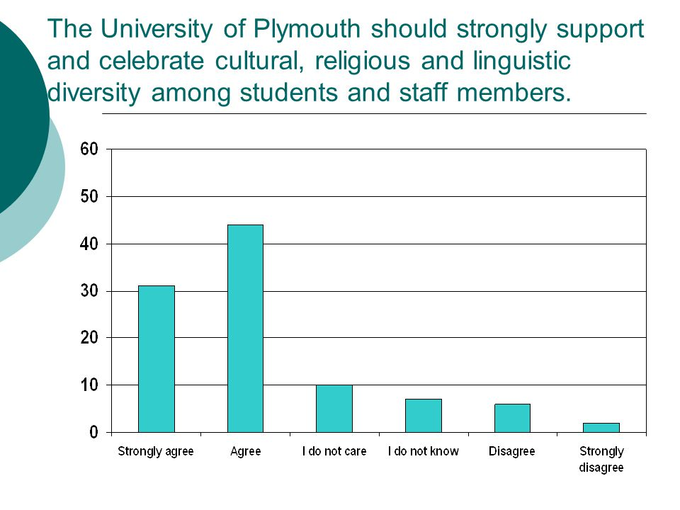 The University of Plymouth should strongly support and celebrate cultural, religious and linguistic diversity among students and staff members.