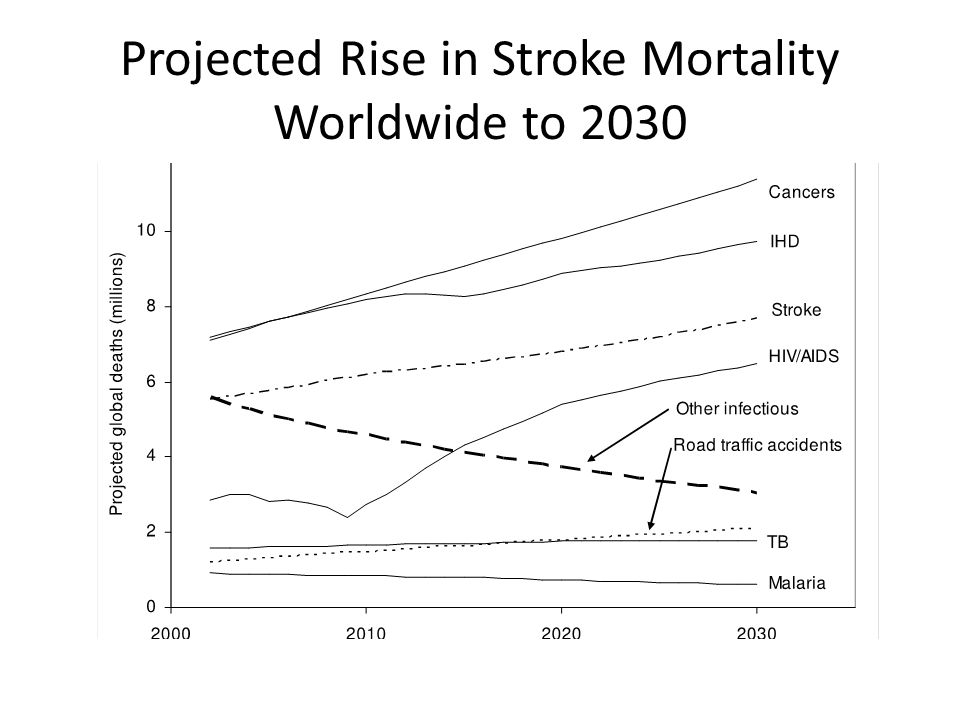 Projected Rise in Stroke Mortality Worldwide to 2030