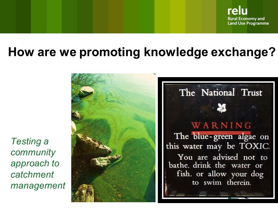Testing a community approach to catchment management How are we promoting knowledge exchange