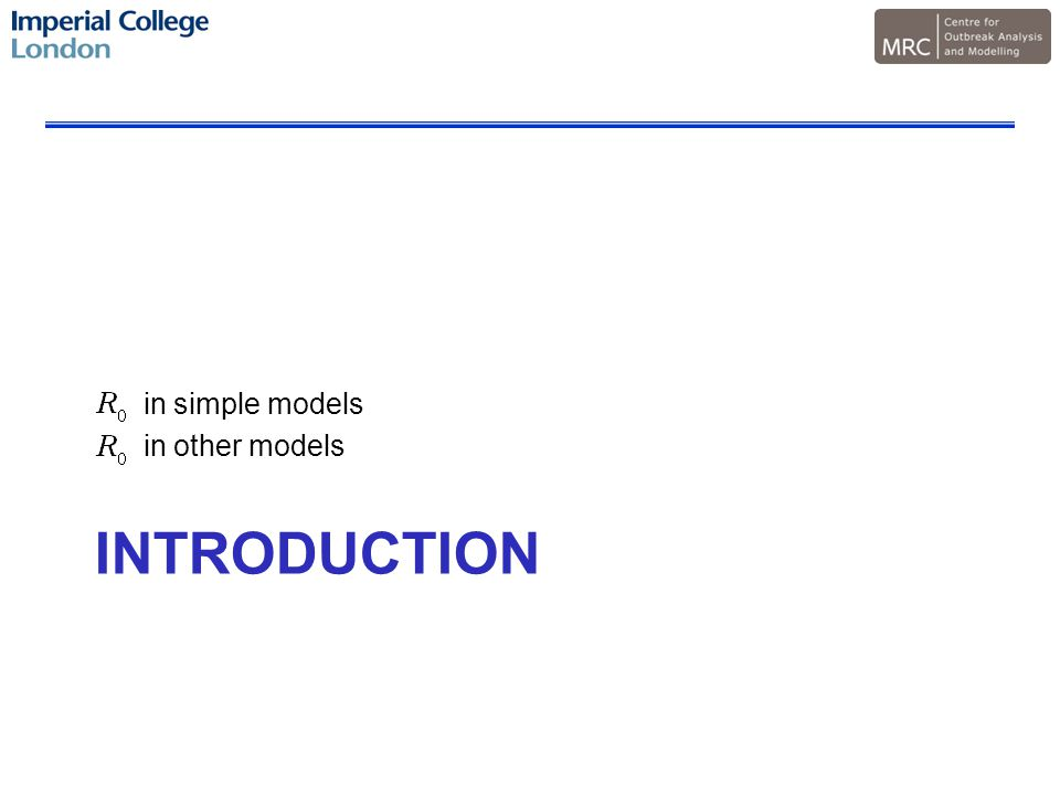INTRODUCTION in simple models in other models