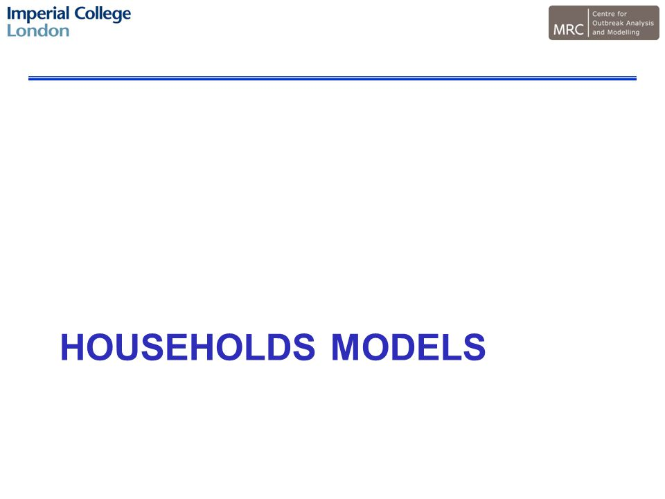 HOUSEHOLDS MODELS