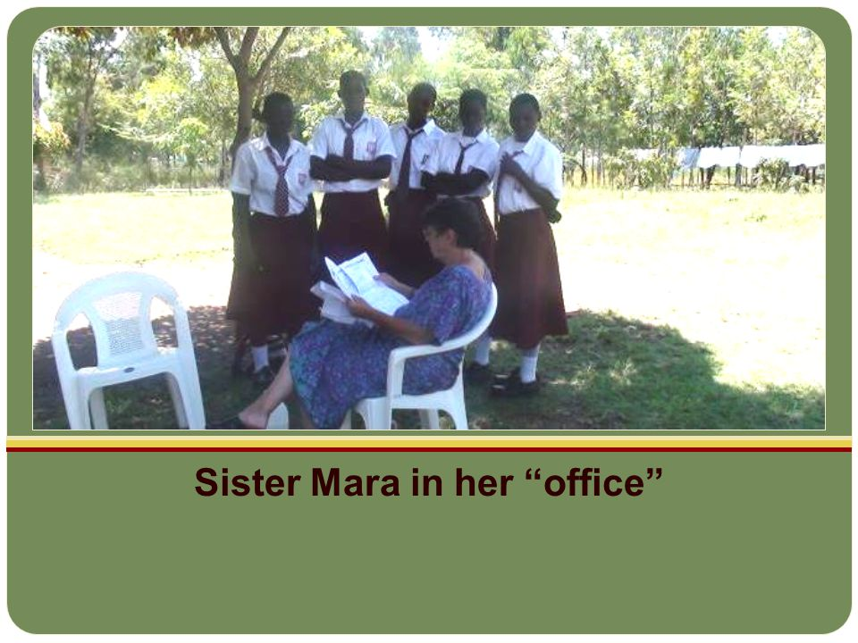 Sister Mara in her office