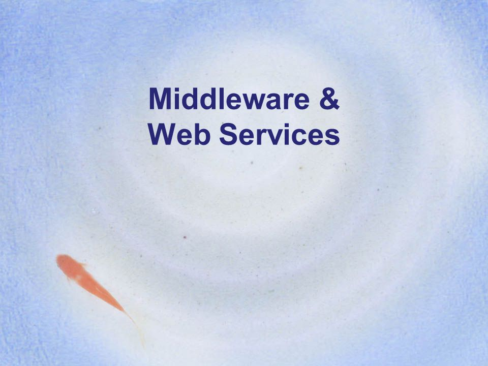 Middleware & Web Services