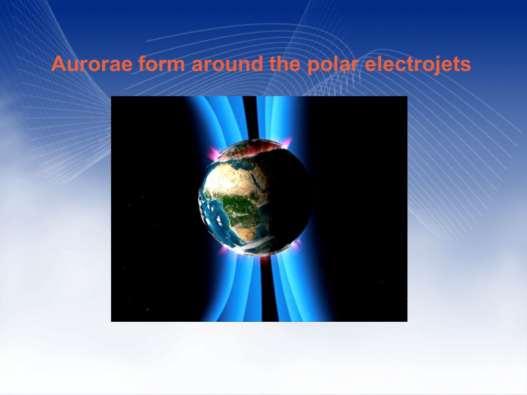 Aurorae form around the polar electrojets