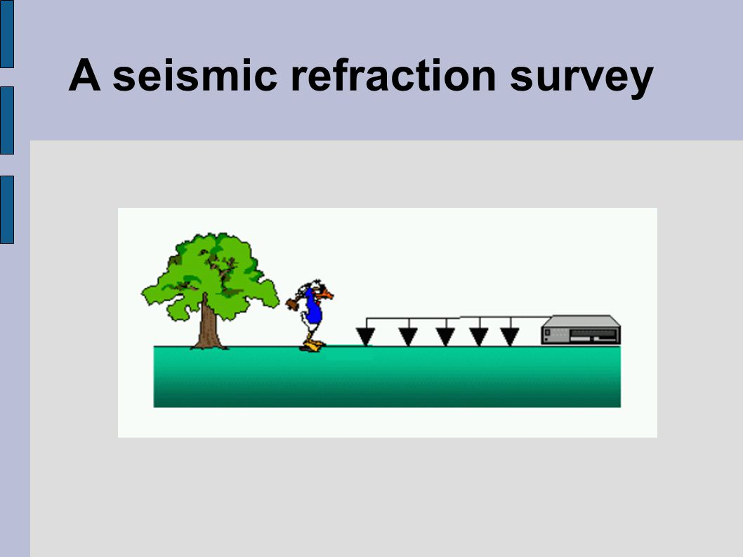 A seismic refraction survey
