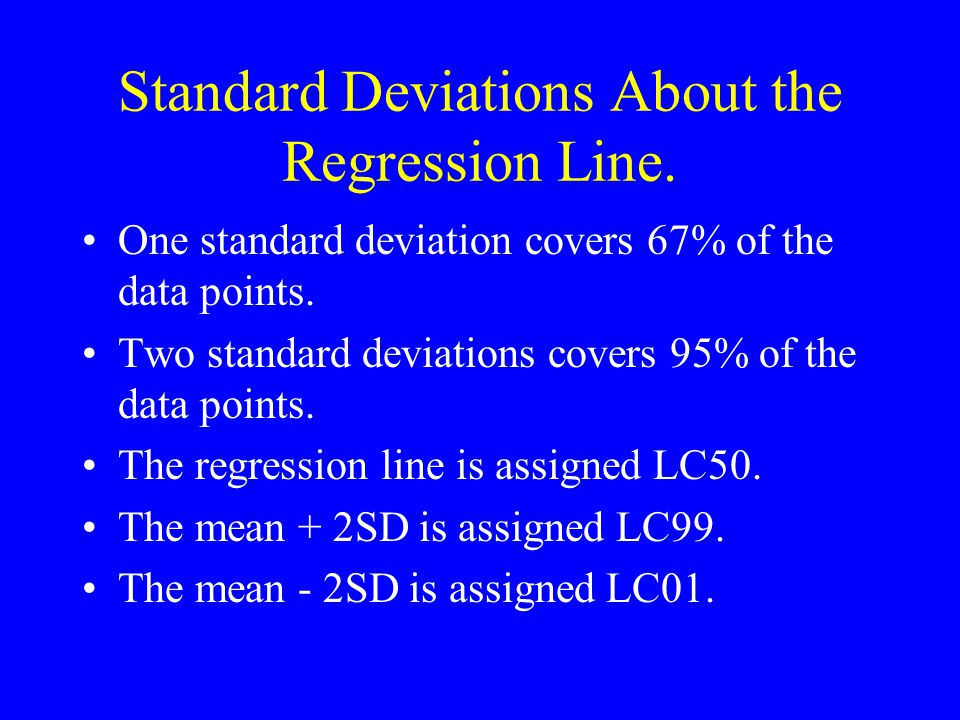 Standard Deviations About the Regression Line.