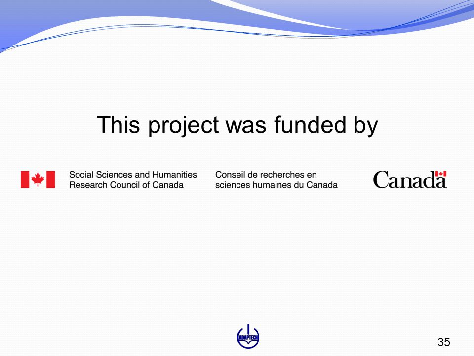 This project was funded by 35