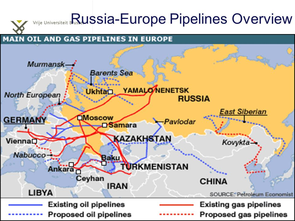 Russia-Europe Pipelines Overview