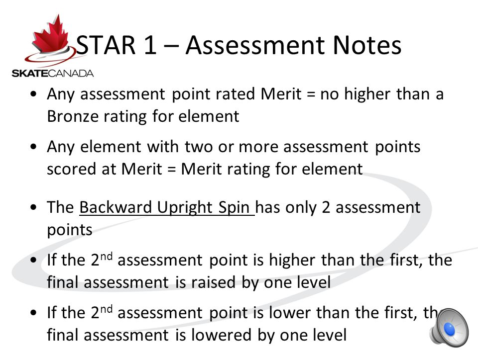 STAR 1 – Marking Sheet Judge 3 records the Circle stroking time for Referee to consider in element assessment.