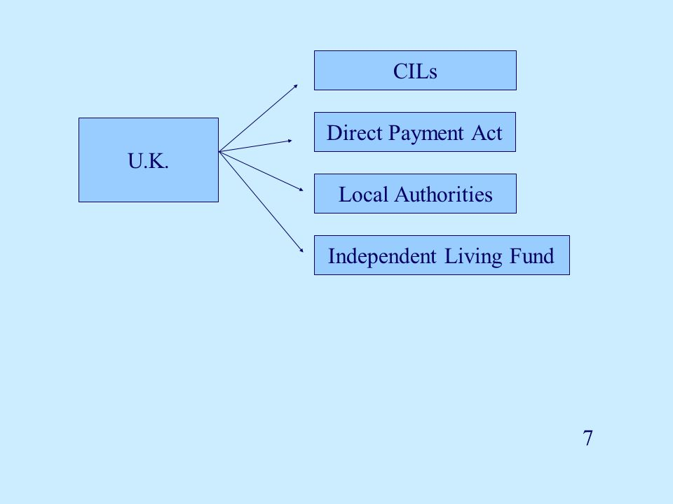 7 U.K. CILs Direct Payment Act Local Authorities Independent Living Fund