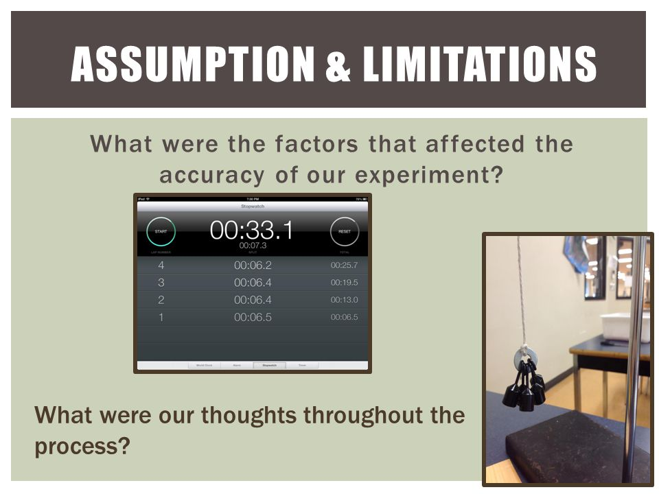 What were the factors that affected the accuracy of our experiment.