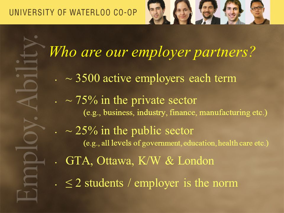 Who are our employer partners.