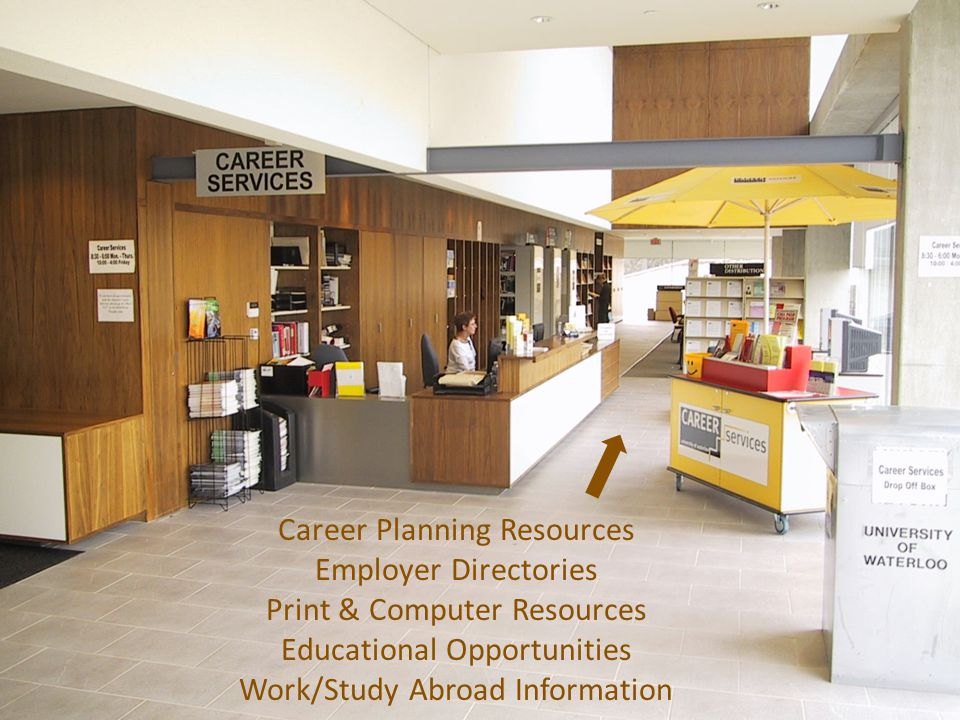 Career Planning Resources Employer Directories Print & Computer Resources Educational Opportunities Work/Study Abroad Information