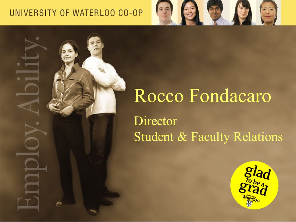 Rocco Fondacaro Director Student & Faculty Relations