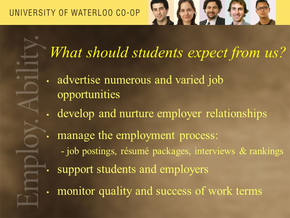 What should students expect from us.