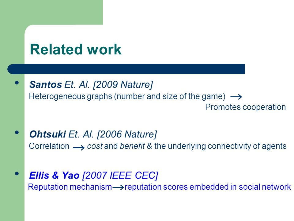 Related work Santos Et. Al.