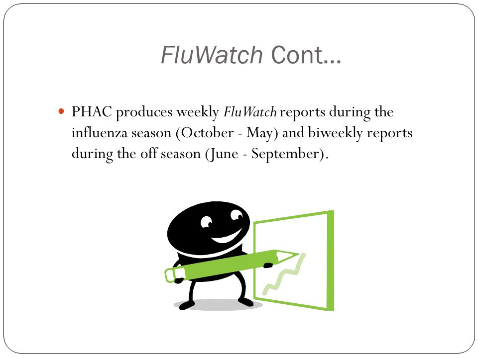 FluWatch Cont...
