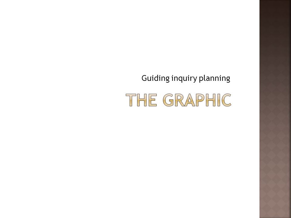 Guiding inquiry planning
