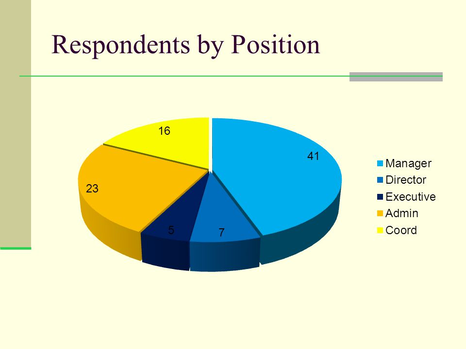 Respondents by Position