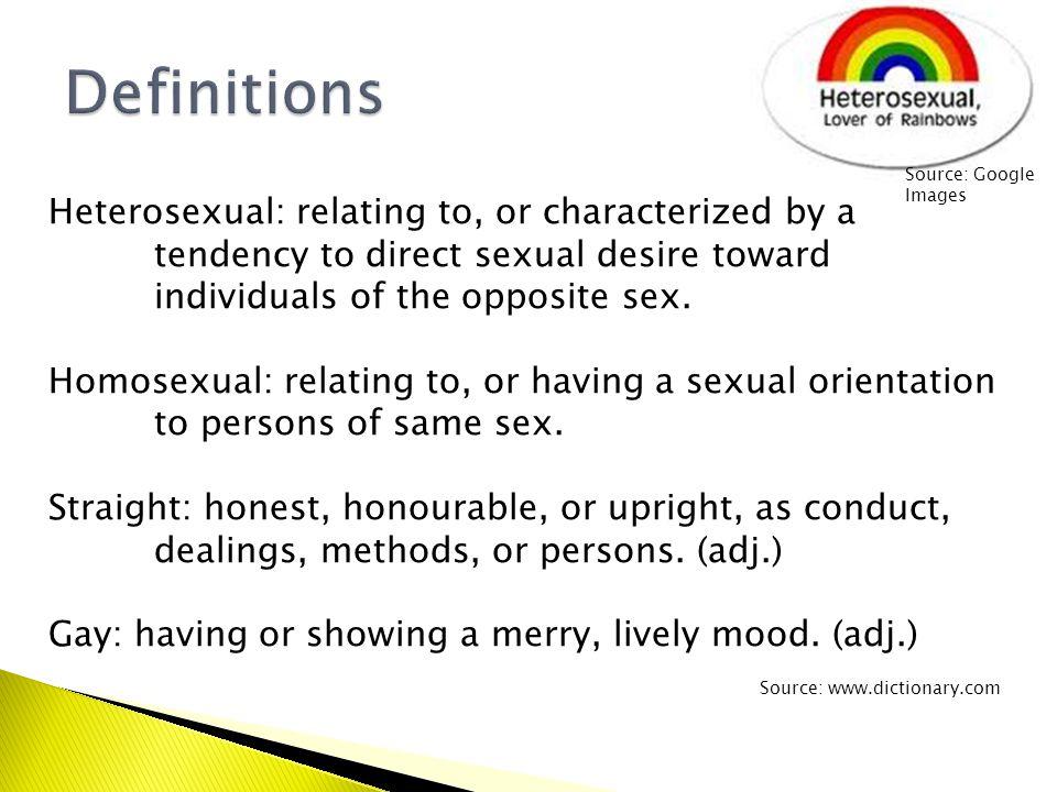 Straight-sexual orientation definition google