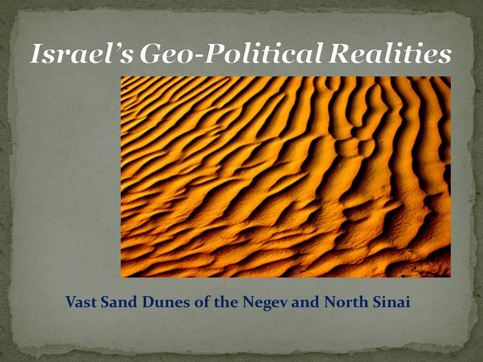Vast Sand Dunes of the Negev and North Sinai