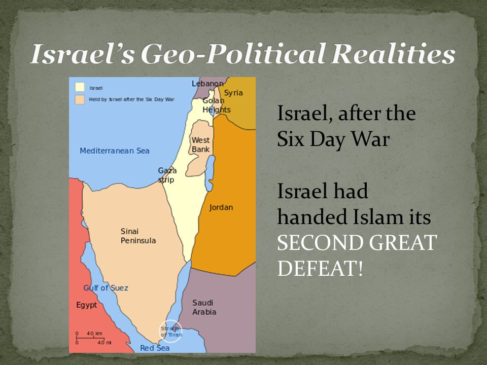 Israel, after the Six Day War Israel had handed Islam its SECOND GREAT DEFEAT!