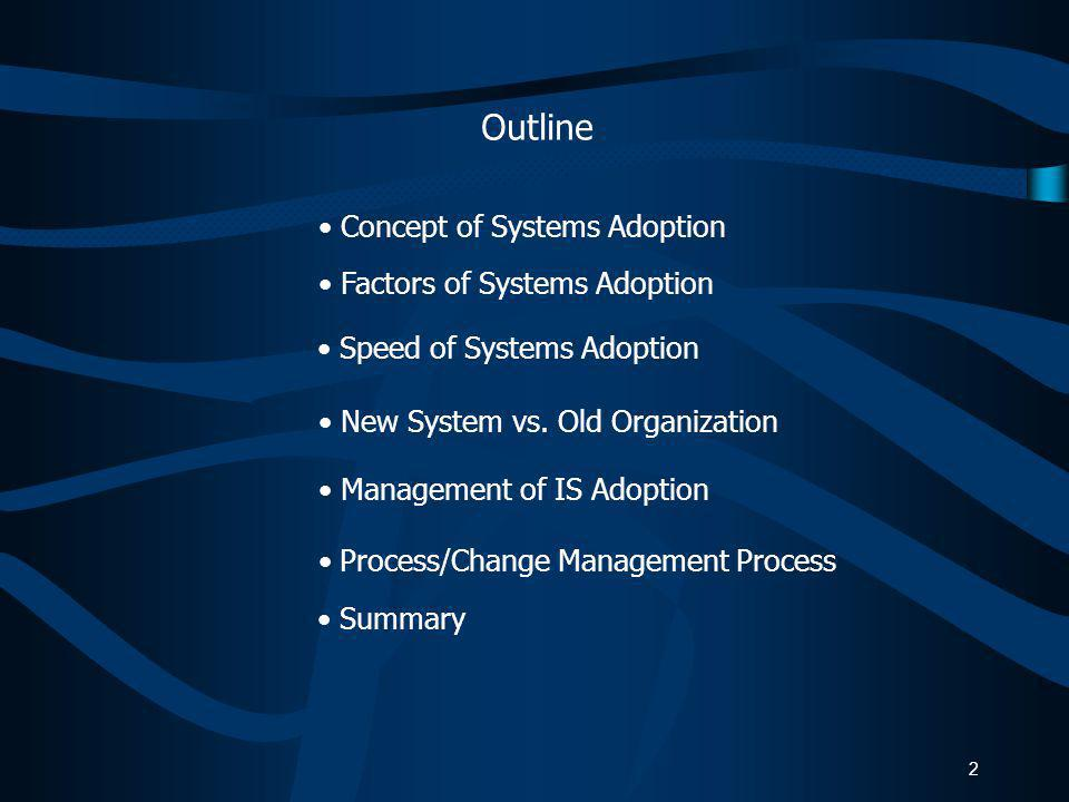 Class 22 Systems Adoption Process MIS 2000 Information Systems for Management Instructor: Bob Travica Updated 2014