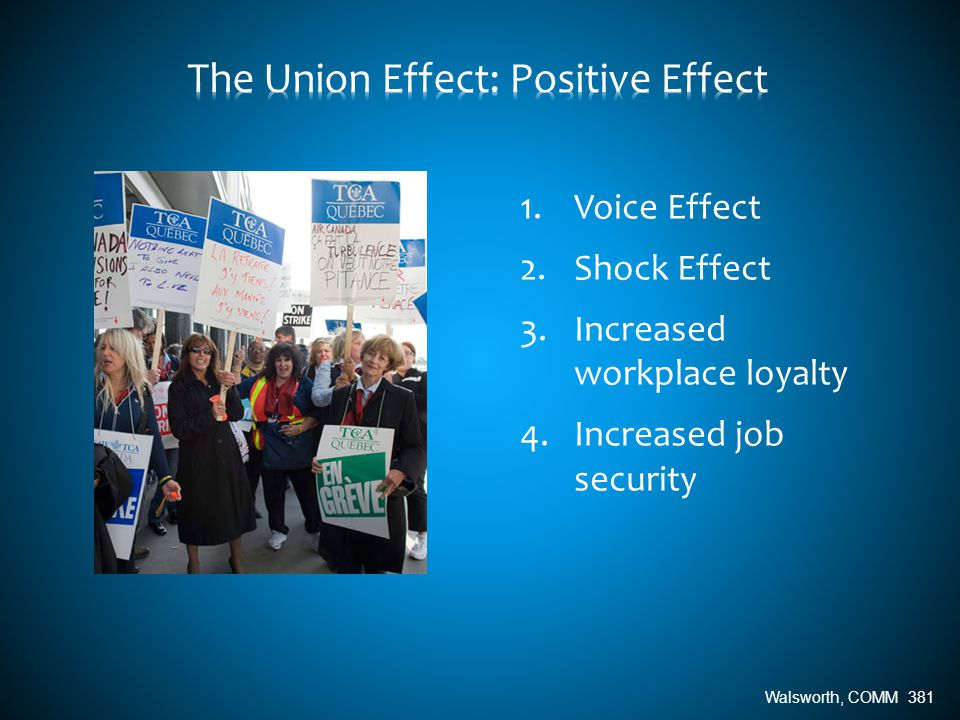 1.Voice Effect 2.Shock Effect 3.Increased workplace loyalty 4.Increased job security Walsworth, COMM 381