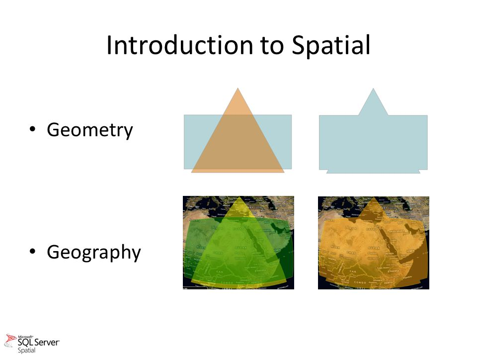 Introduction to Spatial Geometry Geography